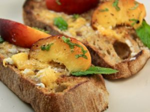 Rustic Peach Butter Toast